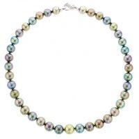 Diamonds Tahitian Pearl Gold Jewelry Necklace Colliers de Perles de Tahiti or bijoux
