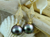 Hinerava, Hinerava Jewelry, Pearl Jewelry, Jewelry, Tahiti, Bora Bora, Tahitian Pearl, Black Pearls, Earrings