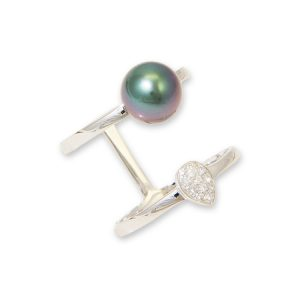 Silver Floating Ring, Tahitian Pearl Jewelry, Tahitan Pearls, Tahiti, Luxury Pearl Jewelry, Pearl Ring, Pearl Bracelet, Pearl Earrings, Pearl Necklace