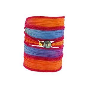 Tahitian Pearl Jewelry bracelet de Perles de Tahiti bijoux soie silk choker