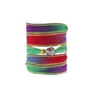 Tahitian Pearl Jewelry bracelet de Perles de Tahiti bijoux soie silk choker, Rainbow Silk Pearl Bracelet