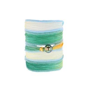 Tahitian Pearl Jewelry bracelet de Perles de Tahiti bijoux soie silk choker, Eternal Spring Silk Pearl Bracelet