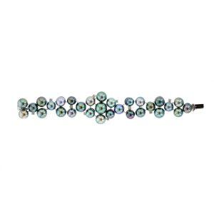 Diamonds Tahitian Pearl Gold Jewelry bracelet de Perles de Tahiti or bijoux