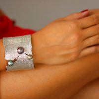 Pearl Sunset Cuff, Tahitian Pearl Jewelry, Tahitan Pearls, Tahiti, Luxury Pearl Jewelry, Pearl Ring, Pearl Bracelet, Pearl Earrings, Pearl Necklace,