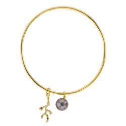 Tahitian Pearl vermeil Jewelry Earrings Boucle d'oreille de perle de tahiti bijoux vermeil