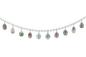 Keshi Charm Bracelet, Tahitian Pearl Jewelry, Tahitan Pearls, Tahiti, Luxury Pearl Jewelry, Pearl Ring, Pearl Bracelet, Pearl Earrings, Pearl Necklace, Pearl Diamond. Keshi Charm Necklace