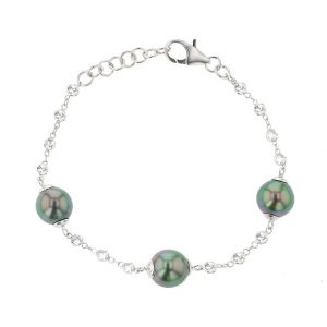 Sapphires Tahitian Pearl Gold Jewelry Necklace Colliers de Perles de Tahiti or bijoux