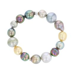 Multicolor Harvest Bracelet, Tahitian Pearl Jewelry Necklace Colliers de Perles de Tahiti or bijoux