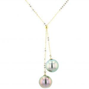 Tahitian Pearl Gold Jewelry Necklace Colliers de Perles de Tahiti or bijoux