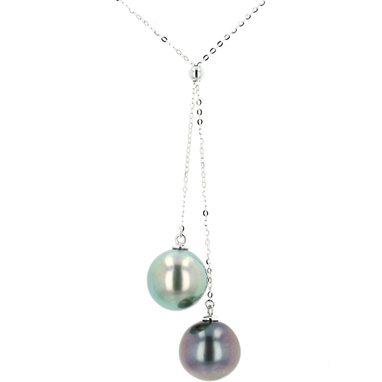 Tahitian Pearl Gold Jewelry Necklace Colliers de Perles de Tahiti or bijoux