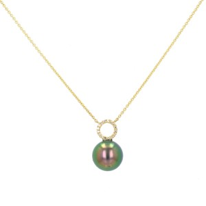 Diamond Tahitian Pearl Gold Jewelry Necklace Colliers de Perles de Tahiti or bijoux diamants