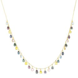 Sapphire & Keshi Charm Necklace, Sapphires, Gems, Yellow Gold, Earrings, Tahitian Pearl, Hinerava, perles de tahiti