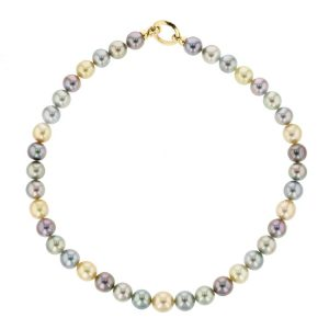Multicolored Pearl Strand, Gold Tahitian Pearl Jewelry, Tahitan Pearls, Tahiti, Luxury Pearl Jewelry, Pearl Ring, Pearl Bracelet, Pearl Earrings, Pearl Necklace