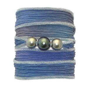 Silk Pearl Bracelet Soite perles de tahiti tahitian pearl bracelet