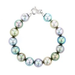 Diamonds Tahitian Pearl gold Jewelry Earrings Boucle d'oreille de perle de tahiti bijoux or, Multicolor Pearl White Gold Bracelet,