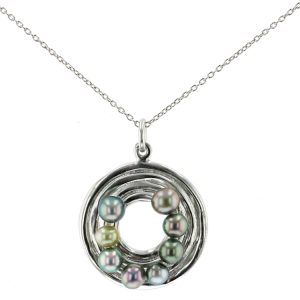 collier necklace Keshi Tahitian Pearl Jewelry perle de tahiti bijoux argent silver